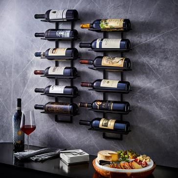6-Bottle Wall Mounted Ladder Wall Rack (Set of 2)