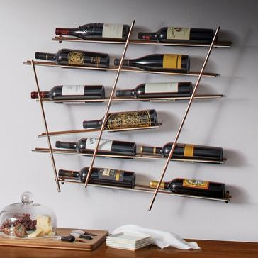 Geo 12-Bottle Metal Wine Rack