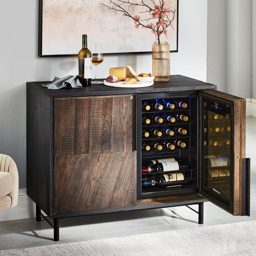 Sancerre Reclaimed Oak Wine Cabinet with Integrated Cooling