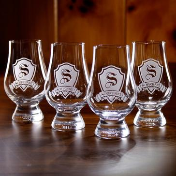 Personalized Shield Glencairn Whisky Glasses (Set of 4)