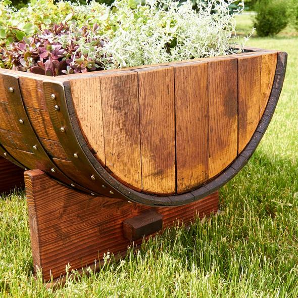 Reclaimed Half-Barrel Planter