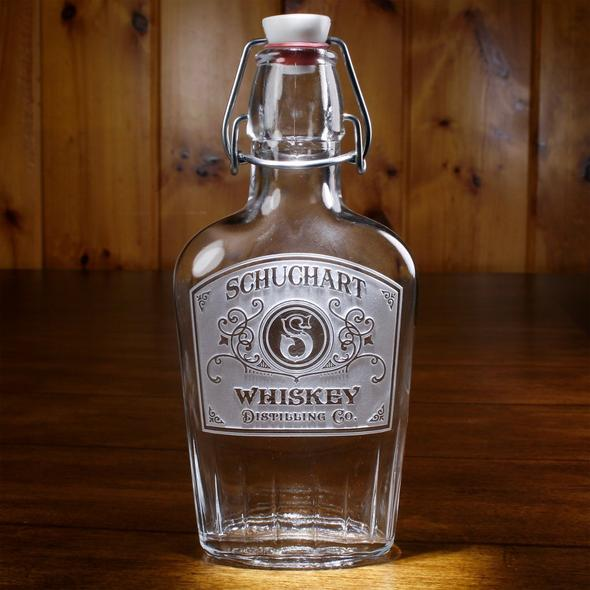 Personalized Glass Whiskey Flask