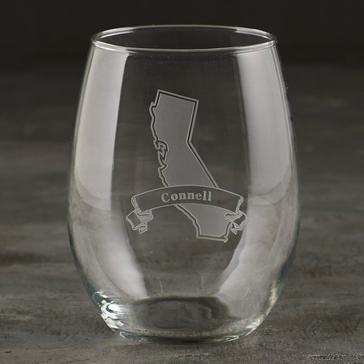 Personalized California State Tumbler Glasses (Set of 2)