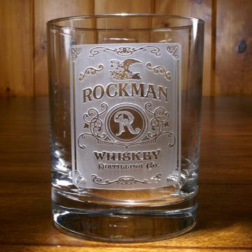 Personalized Etched Whiskey Label Glasses (Set of 4)