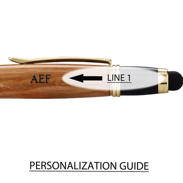 Personalized Authentic Whiskey Barrel Gold Stylus Pen