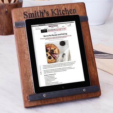 Reclaimed Wine Barrel Tablet & Cookbook Stand