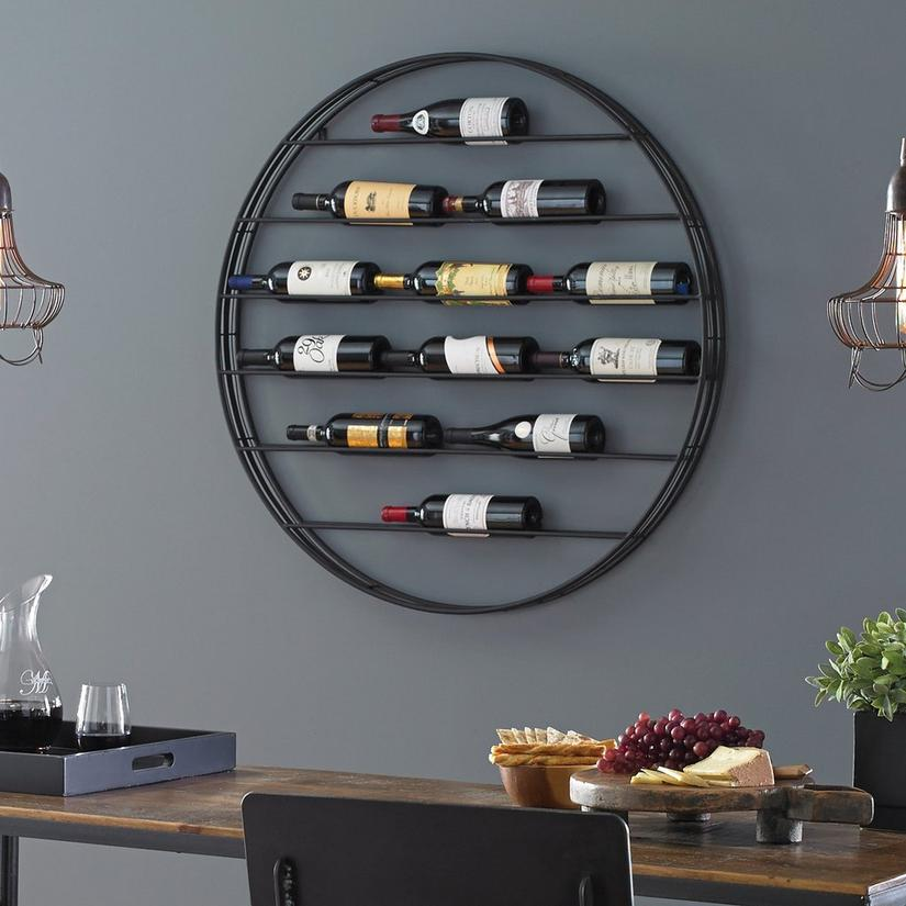 12 Bottle Label View Wall Wine Rack Wine Enthusiast