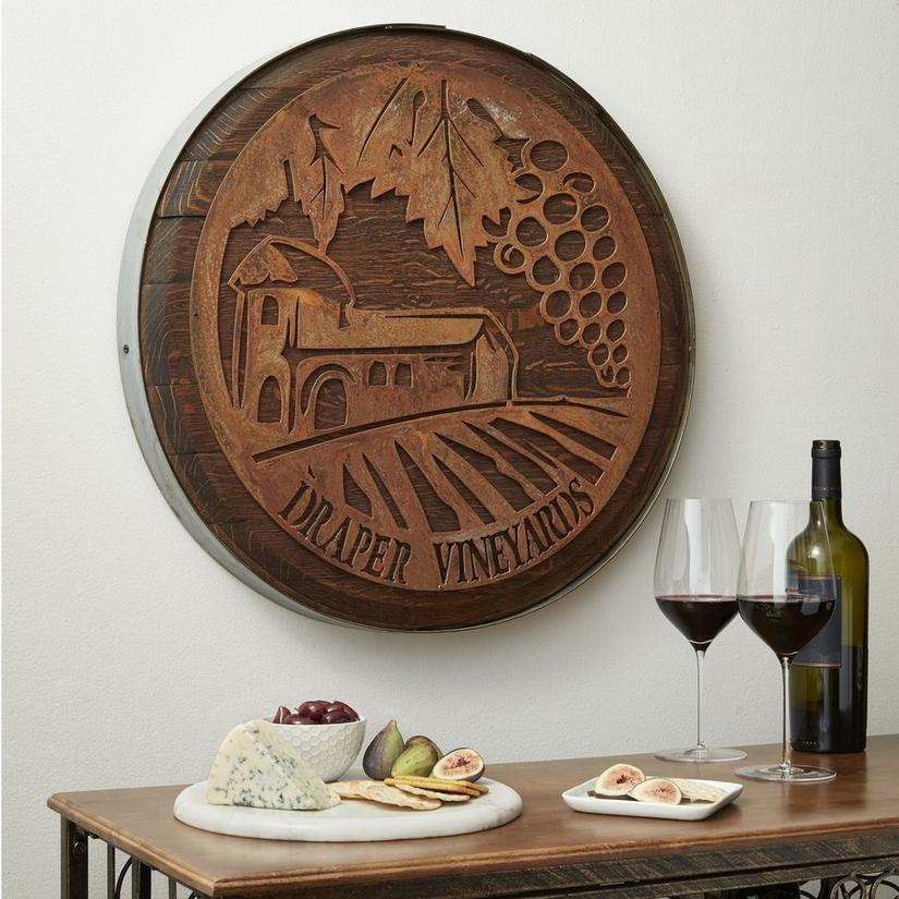 Personalized Rustic Barrel Wall Décor