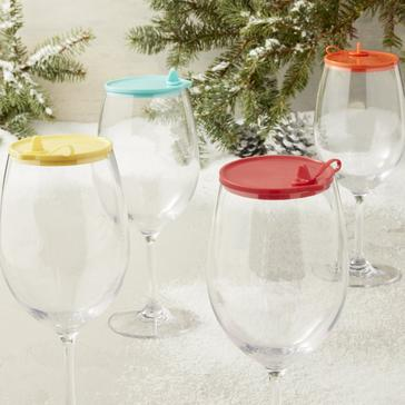 Indoor/Outdoor Cabernet Wine Glass Lids (Set Of 4)