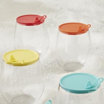Indoor/Outdoor Wine Tumbler Lids (Set Of 4)