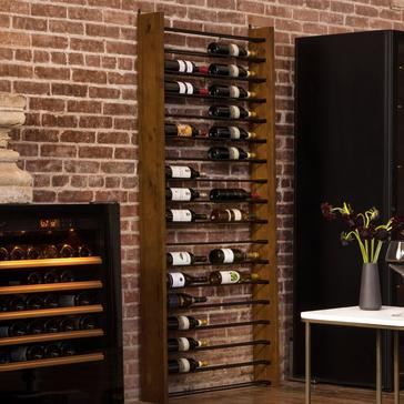 Corsica Vertical Wood and Metal Wine Rack Single Depth