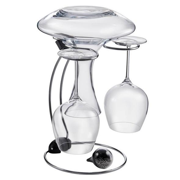 Folding Glassware Drying Stand & Decanter Cleaning Beads Set