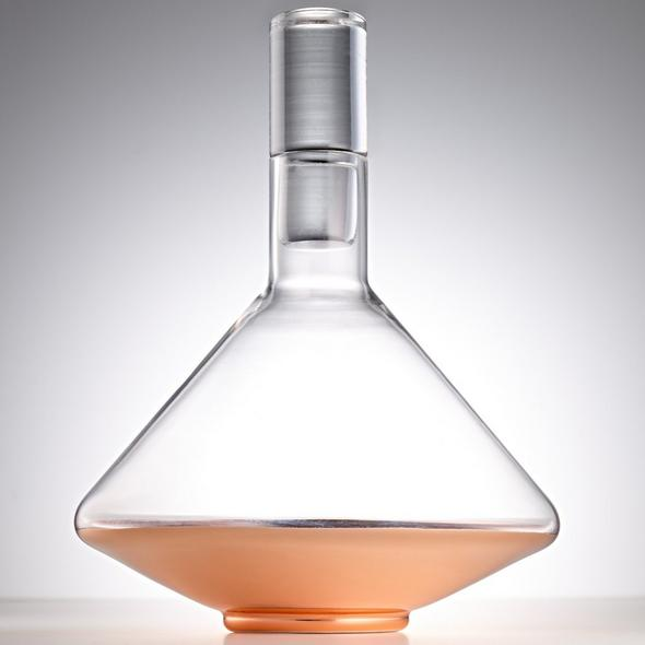 Rose Gold Metallic Decanter