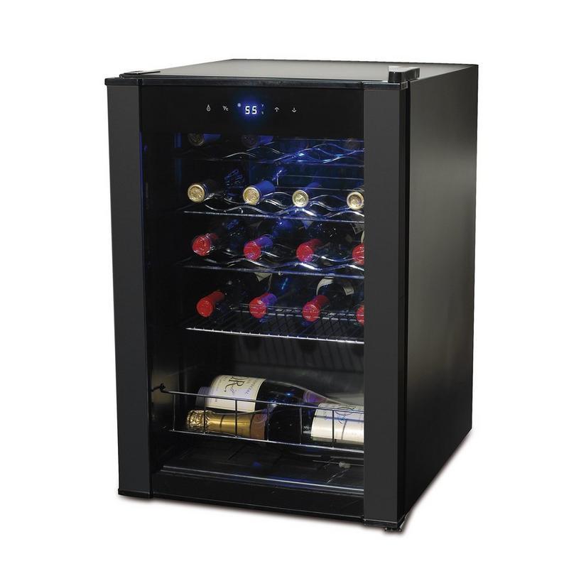 "Wine Enthusiast 17/"" Freestanding Single Zone Wine Cooler 20 Bottle Capacity"