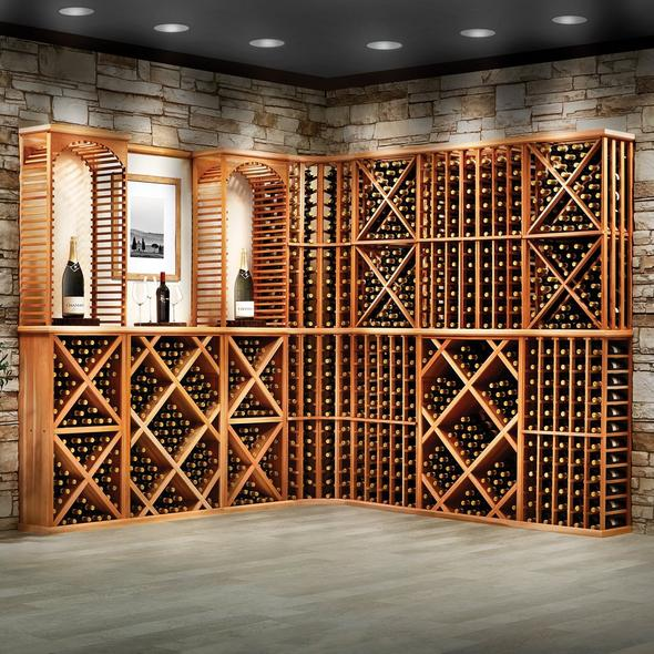 N'FINITY Stackable 4 Foot Wine Rack - Wine Rack Diamond Open Cube