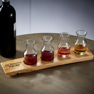 Personalized Reclaimed Barrel Wine Flight Set