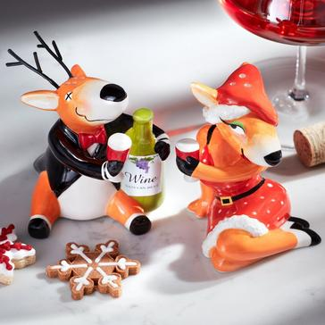 Blitzen and Vixen Salt & Pepper Shaker Set (Set of 2)