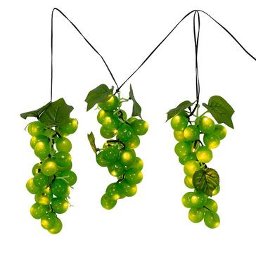 Large Green Grape Cluster Indoor/Outdoor 75-Light LED Set