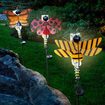 Solar Wine Bottle Garden Bug Light Set