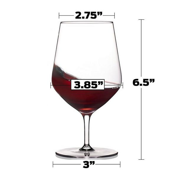 Fusion Air Short Stem Taste Wine Glasses (Set of 4)