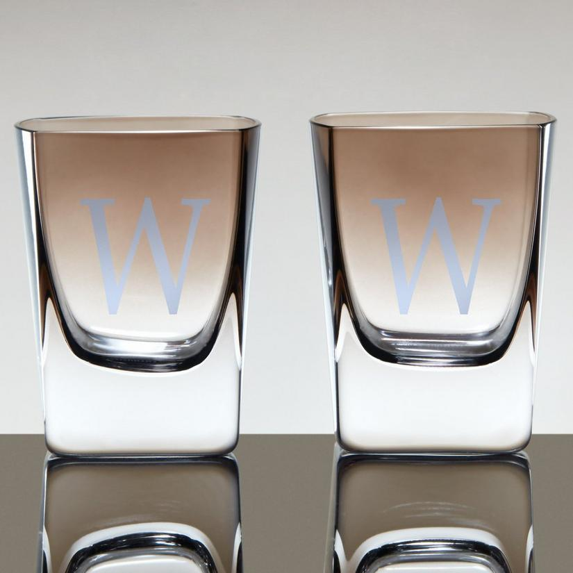 Jennings Whiskey Glasses With Smoke Ombré Finish (Set of 2)
