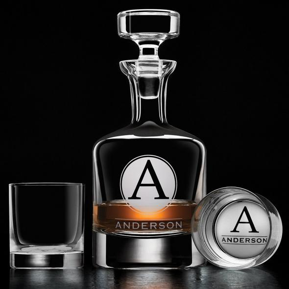 Personalized Amsterdam Whiskey Decanter and Glasses Set