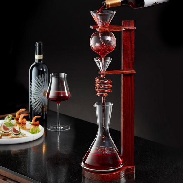 Wine Enthusiast Art Series Wine Tower Decanting Set