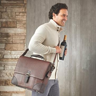 Genuine Leather Messenger Wine Bag
