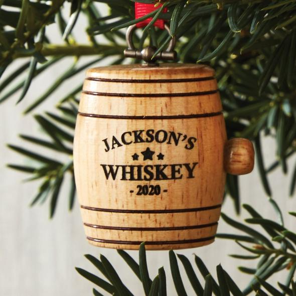 Personalized Mini Whiskey Barrel Ornament 2020