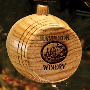 Personalized Mini Wine Barrel Winery Ornament 2020