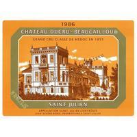 Chateau Ducru Beaucaillou 1986 Cru Classe, St. Julien