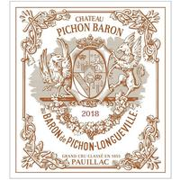Chateau Pichon-Longueville Baron 2018 Cru Classe, Pauillac