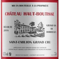 Chateau Haut Boutisse 2018 Saint Emilion Grand Cru