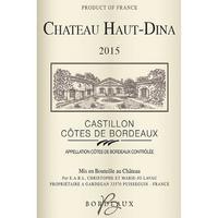Chateau Haut-Dina 2015 Castillon Cotes de Bordeaux