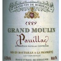 Grand Moulin 1999 Pauillac