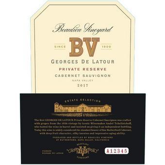 BV Georges de Latour Reserve 2017 Cabernet Sauvignon, Napa Valley
