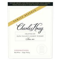 Charles Krug 2016 Generations Reserve Red, Napa Valley