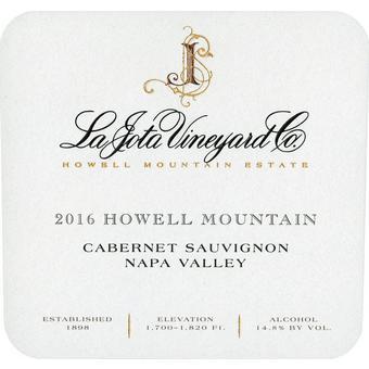 La Jota 2016 Cabernet Sauvignon, Howell Mt., Napa Valley