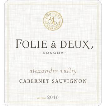 Folie a Deux 2016 Cabernet Sauvignon Alexander Valley