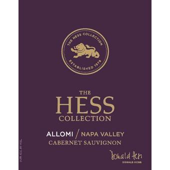 Hess Collection 2018 Cabernet Sauvignon, Allomi Vyd., Napa Valley
