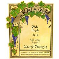 Nickel & Nickel 2018 Cabernet Sauvignon, State Ranch, Yountville, Napa Valley