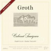 Groth 2015 Reserve Cabernet Sauvignon, Oakville, Napa Valley