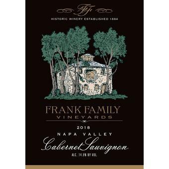 Frank Family 2018 Cabernet Sauvignon, Napa Valley