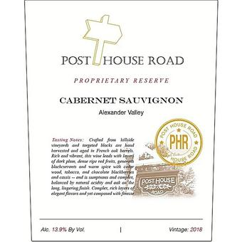 Post House Road 2018 Cabernet Sauvignon, Proprietary Reserve, Alexander Valley