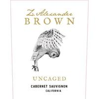 Z. Alexander Brown 2018 Uncaged, Cabernet Sauvignon, California
