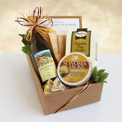 California Delicious Chardonnay Classic Wine & Cheese Gift