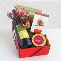 Classic California Red Wine and Cheese Gift Box
