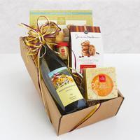 Classic California White Wine and Cheese Gift Box