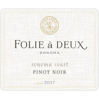 Folie A Deux 2017 Pinot Noir, Sonoma Coast