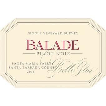 Belle Glos 2016 Balade, Santa Maria Valley, Santa Barbara